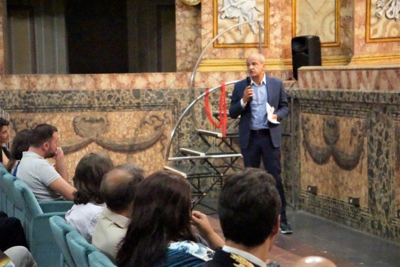 il Presidente della Fondazione Mario Pietracupa nel corso della presenta... NELLA REGGIA DI CASERTA L'EVENTO CONCLUSIVO DELLA NOTTE EUROPEA DEI RICERCATORI NEUROMED