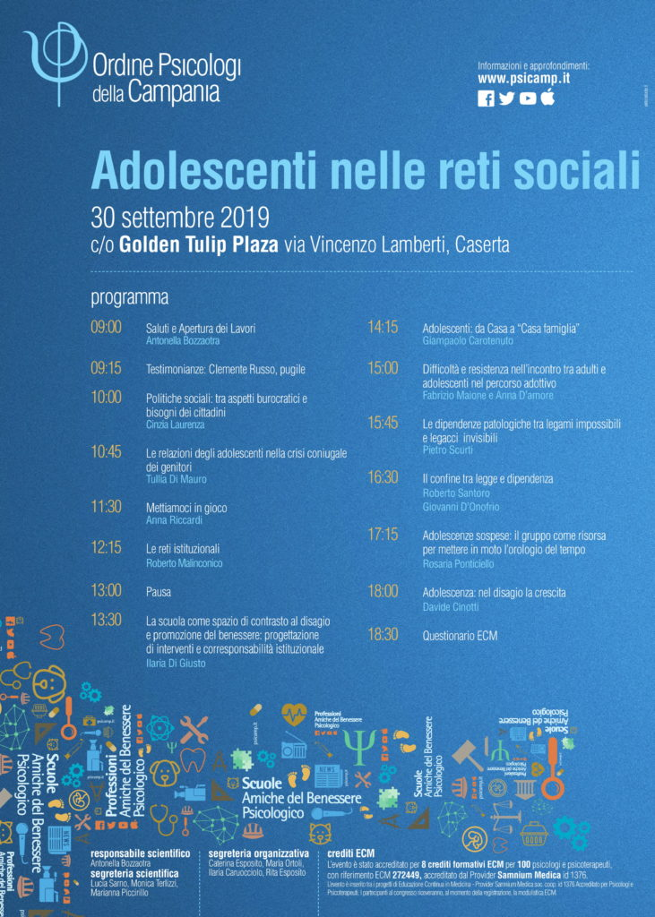 locandina adolescenti nelle reti sociali 1 731x1024 PSICOLOGIA, ADOLESCENTI NELLE RETI SOCIALI: CONVEGNO A CASERTA