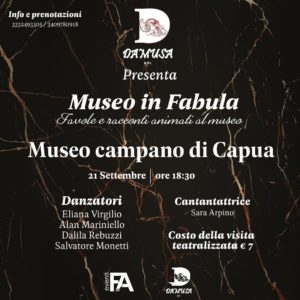 %name GIORNATE EUROPEE DEL PATRIMONIO 2019, AL MUSEO CAMPANO ARRIVA MUSEO IN FABULA
