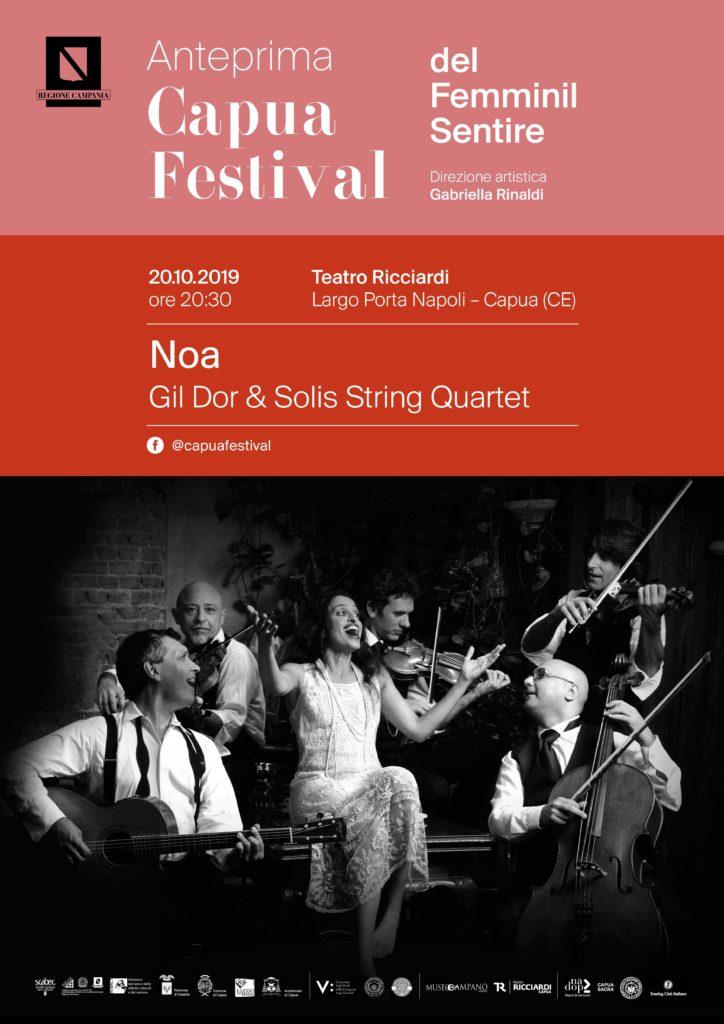 Capua Festival Noa A3 724x1024 AL RICCIARDI NOA IN CONCERTO TRA BACH E SOLIS STRING QUARTET