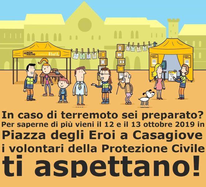 FB IMG 1570727483585 CASAGIOVE, LA PROTEZIONE CIVILE IN PIAZZA PER LA CAMPAGNA DI PREVENZIONE IO NON RISCHIO