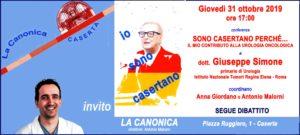Invito Simone 31ott2019 300x135 GIUSEPPE SIMONE  OSPITE DEL SECONDO APPUNTAMENTO DI GIOVEDI DE LA CANONICA