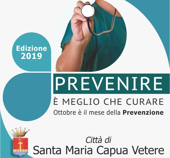 Locandina Mese della Prevenzione SANTA MARIA CAPUA VETERE, MESE DELLA PREVENZIONE: BOOM DI RICHIESTE NELLE PRIME 48 ORE
