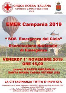 Locandina SOS Emergenza 212x300 SANTA MARIA CAPUA VETERE, EMER CAMPANIA 2019: ESERCITAZIONE AL PARCO URBANO