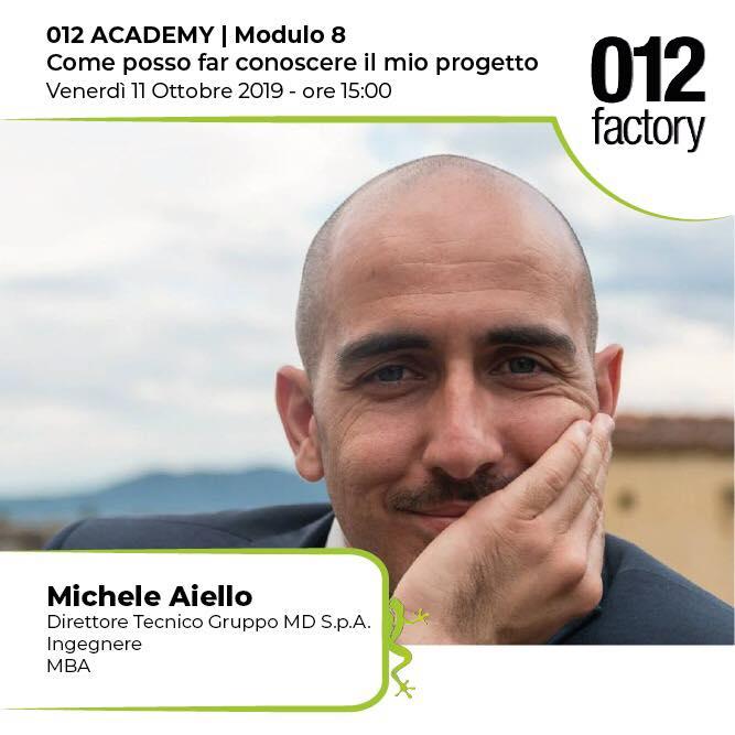 MICHELE AIELLO ACADEMY 012 FACTORY: COME POSSO FAR CONOSCERE IL MIO PROGETTO