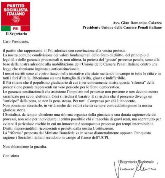 %name IL PSI PARTECIPA ALLA PROTESTA DEI PENALISTI UCPI