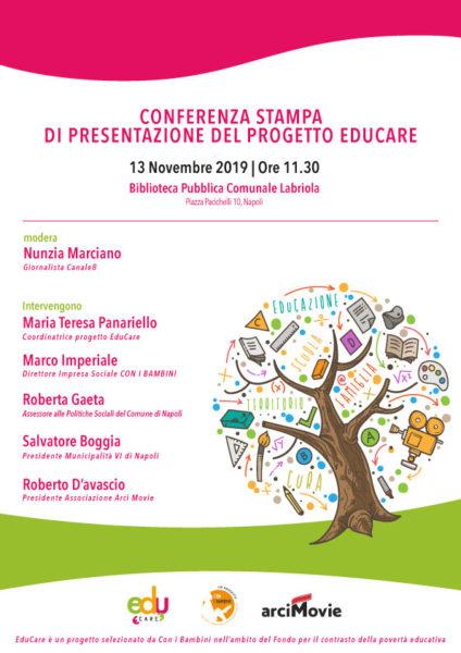 Conferenza stampa WEB 1 EduCARE: A NAPOLI PARTE IL PROGETTO DI ARCI MOVI