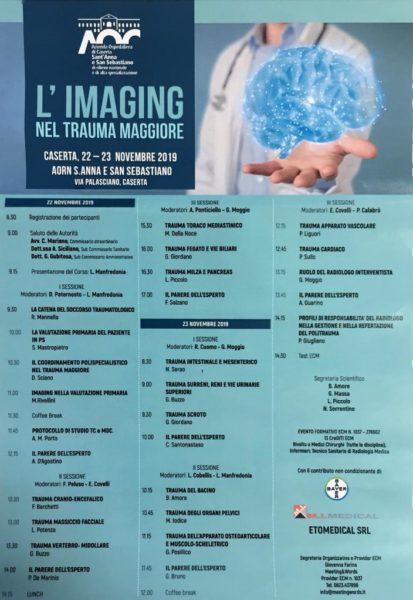 """Imaging """"L'IMAGING NEL TRAUMA MAGGIORE"""": CORSO DI FORMAZIONE PRESSO L'AZIENDA OSPEDALIERA DI CASERTA"""