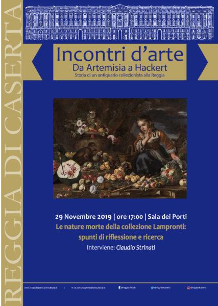 Incontri darte 29 novembre REGGIA DI CASERTA, INCONTRI DARTE: VENERDÌ LE NATURE MORTE DELLA COLLEZIONE LAMPRONTI