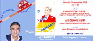 Invito b Talento 21nov2019 300x135 LA CANONICA INCONTRA IL DOTTOR TALENTO, CASERTANO IN EMILIA