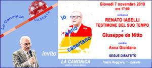 Invito de Nitto 7non2019 300x135 IL DOTT. DE NITTO A LA CANONICA IL 7 NOVEMBRE