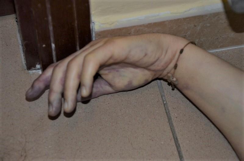 Un particolare della scena del crimine del delitto Tondi PROCESSO PER IL DELITTO DI KATIA TONDI: IN CORTE DASSISE MERCOLEDÌ 6 NOVEMBRE