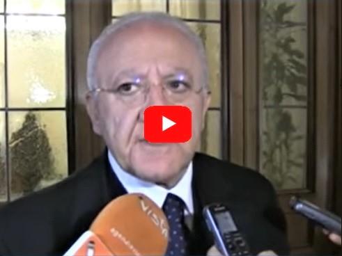 de luca video SANITÀ REGIONE CAMPANIA, STOP AL COMMISSARIAMENTO: SODDISFATTO IL PRESIDENTE DE LUCA