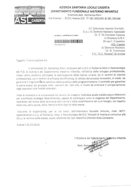 documento OSPEDALE MOSCATI, PERRI: È TUTTO REGOLARE…