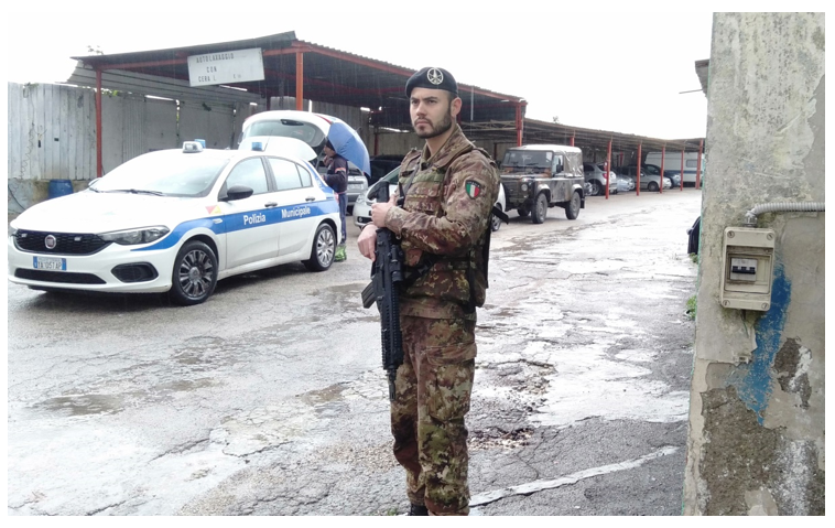 esercito 2 RAPPORTO INCARICATO TERRA DEI FUOCHI: 5 ATTIVITÀ E 3 VEICOLI SEQUESTRATI, 30MILA EURO DI SANZIONI