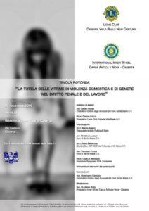 %name IL LIONS CLUB NELLA BIBLIOTECA DI CASERTA PER TAVOLA SU TUTELA VITTIME VIOLENZA DOMESTICA