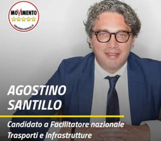santillo facilitatore SANTILLO (M5S) SI CANDIDA A FACILITATORE NAZIONALE TRASPORTI E INFRASTRUTTURE