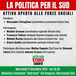 Attivo Articolo Uno 300x300 UNA POLITICA PER IL SUD, ARTICOLO UNO PROMUOVE INCONTRO CON LE FORZE SOCIALI