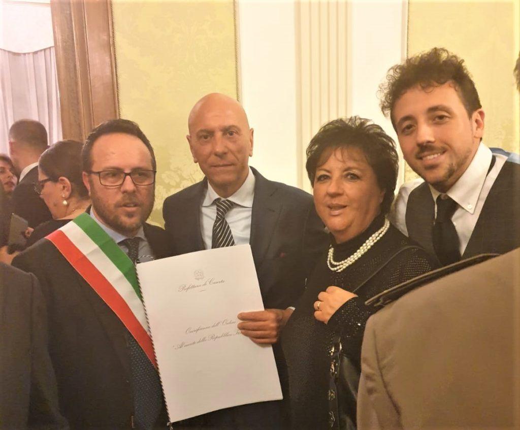 %name INSIGNITI DEL CAVALIERATO DELLA REPUBBLICA DUE CASAGIOVESI