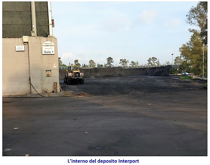 INTERPORT interno deposito INTERPORT, IL DEPOSITO DEI VELENI VIENE SEQUESTRATO DALLA GUARDIA DI FINANZA