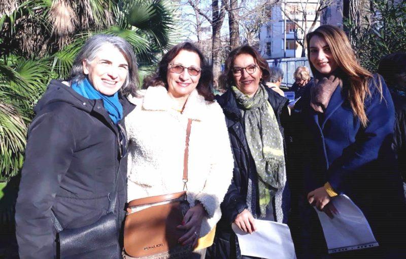 gruppo toponomastica a piazza padre pio scaled NUOVI ALBERI IN VILLA GIAQUINTO: LE INIZIATIVE DEL GRUPPO TOPONOMASTICA FEMMINILE