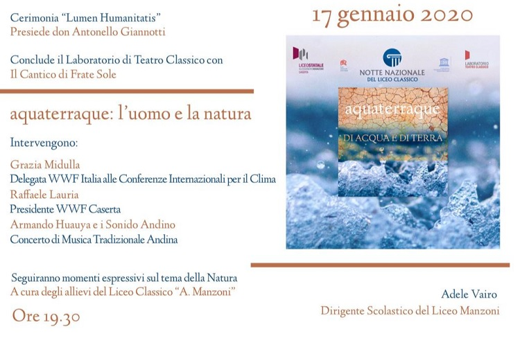 LICEO MANZONI NOTTE NAZIONALE DEL LICEO CLASSICO: AL MANZONI DI CASERTA SI RIACCENDE IL LUMEN HUMANITATIS