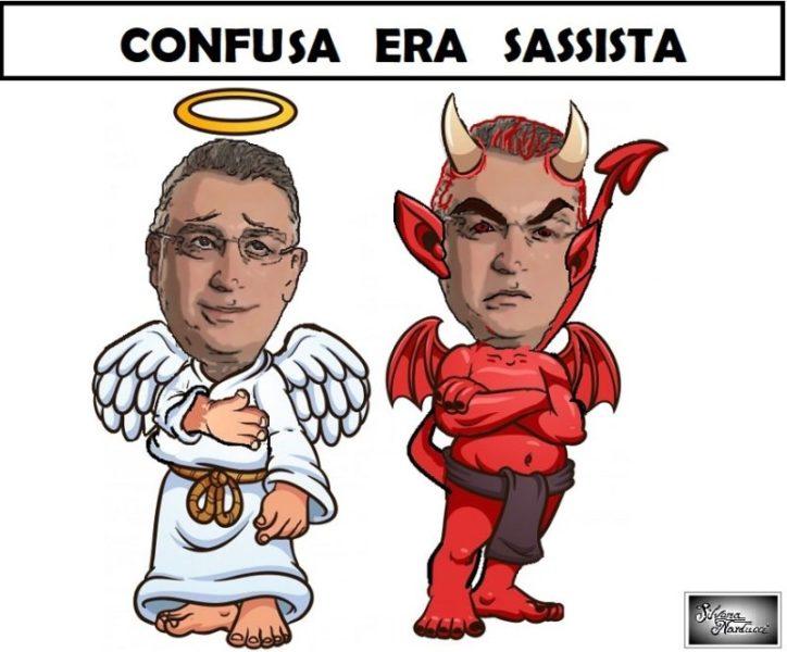 """angelo e diavolo 6460 166 scaled SESSA AURUNCA: SILVIO SASSO PRIMA """"SI"""" AUTO MINACCIA E POI RITRATTA"""