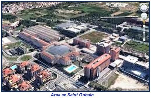 area ex Saint Gobain ASL CASERTA, SAINT GOBAIN: TRA SOGNO COMUNE E INTERESSI PRIVATI