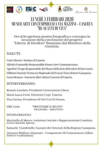 IMG 20200125 WA0006 scaled CASERTA, AL MUSEO CONTEMPORANEO RI SCATTI DI VITA