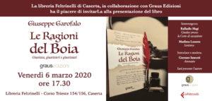 Invito Garofalo Feltrinelli 300x143 LE RAGIONI DEL BOIA, IL LIBRO DI GIUSEPPE GAROFALO ALLA FELTRINELLI IL 6 MARZO
