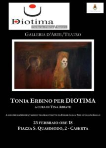 Tonia Erbino Manifesto 214x300 TONIA ERBINO ALLO SPAZIO DIOTIMA IL 23 FEBBRAIO