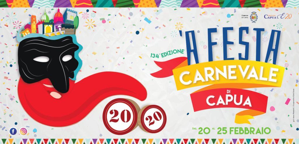 locandina Carnevale di Capua 2020 jpg 1024x494 CAPUA: NASCE E.20 IL COMITATO CHE FA A FEST DI CARNEVALE 2020