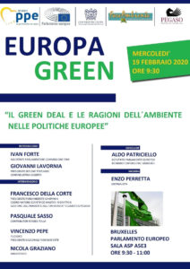 locandina convegno Bruxelles Grenn Deal 212x300 CONVEGNO A BRUXELLES SU GREEN DEAL E POLITICHE EUROPEE DELLAMBIENTE