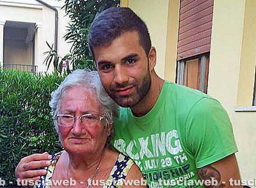 Andrea Landolfi con la nonna Mirella Iezzi OMICIDIO DI MARIA SESTINA ARCURI
