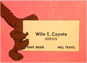 Il biglietto da visita di Wile E. Coyote UNABOMBER