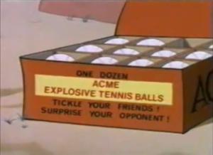 Palle da tennis esplosive UNABOMBER