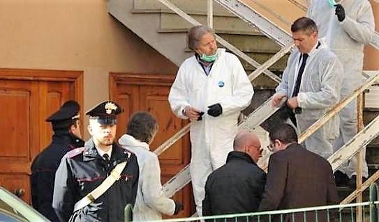 Ronciglione. Le scale dalle quali è caduta Maria Sestina Arcuri OMICIDIO DI MARIA SESTINA ARCURI