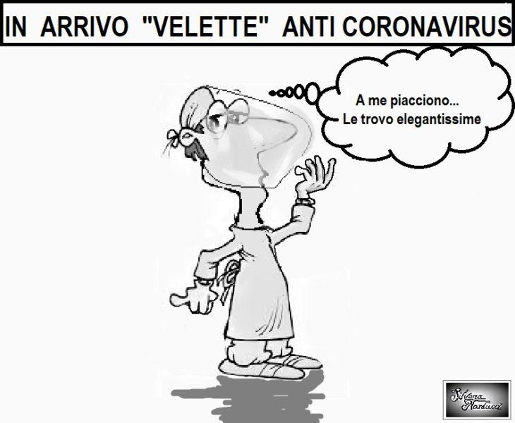 VELETTE ANTI CORONAVIRUS ASL…MASCHERINE INUTILI, TAMPONI E PRIVILEGI