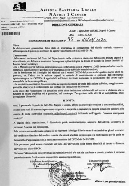 %name DIPENDENTI IMMUNODEPRESSI, IL NURSIND SCRIVE AL COMMISSARIO DELL'AORN