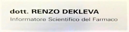"""Biglietto da visita di Renzo Dekleva con il falso titolo di """"dott."""" FOTO 3 OMICIDIO DI LUCIA MANCA: RENZO DEKLEVA, DA MILLANTATORE AD ASSASSINO"""