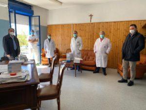 Consegna ospedale Piedimonte 1 300x225 CORONAVIRUS, DA CCIAA MASCHERINE A FORZE DELLORDINE ED OSPEDALI