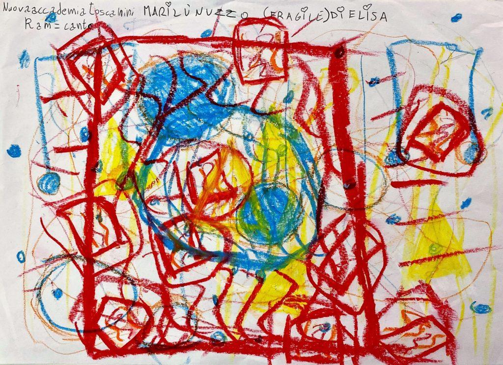 """Marilù Nuzzo anni 7 """"Fragile"""" di Elisa. Nuova Accademia Toscanini Caserta. RAMCanto 1024x743 GIOCO CONCORSO PER BAMBINI  """"ASCOLTA LA MUSICA E DISEGNA BIMBO""""  SCATENA LA TUA CREATIVITÀ!"""