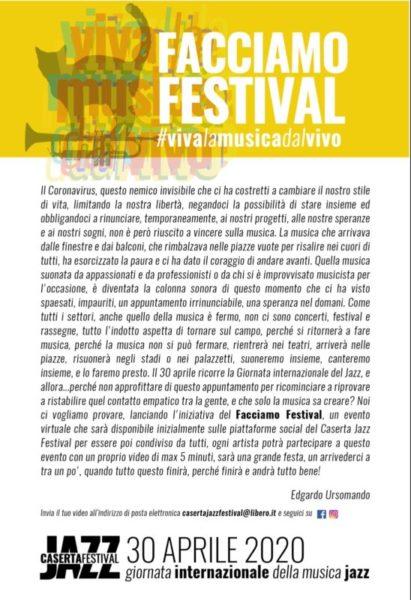 %name LINVITO DI EDGARDO URSOMANDO A FACCIAMO FESTIVAL