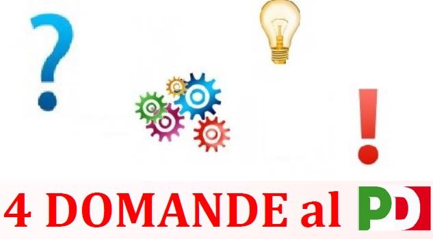 4 DOMANDE AL PD CENTRO SOCIALE EX CANAPIFICIO: 4 DOMANDE AL PD