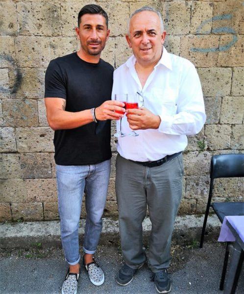Giuseppe Vives e Franco Feola scaled ACCORDO FRA LA POLISPORTIVA SANNICOLESE E LA SCUOLA CALCIO GIUSEPPE VIVES