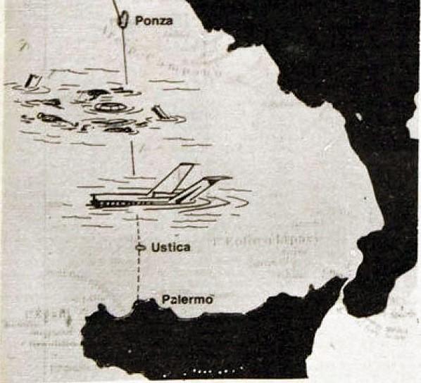 Strage di Ustica mappa aereo caduto 40 ANNI DALLA STRAGE DI USTICA: IL RICORDO DEL CNDDU