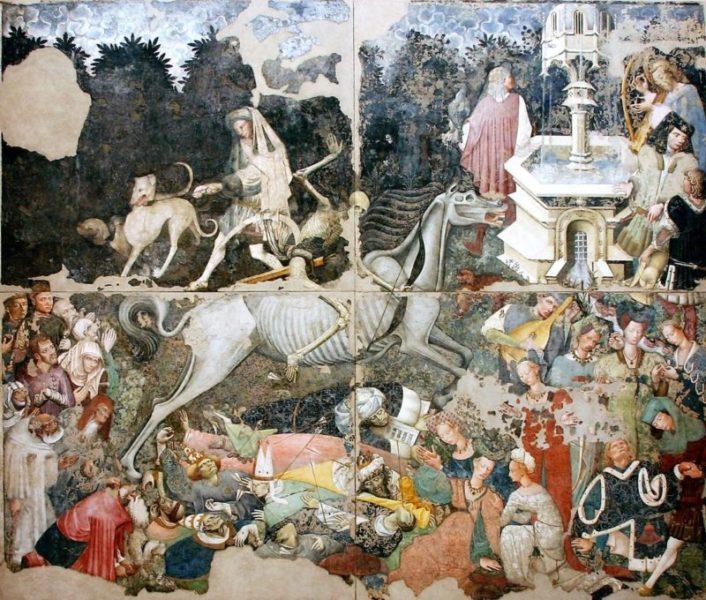 Trionfo della Morte affresco staccato Galleria regionale di Palazzo Abatellis Palermo scaled L'UMANITÀ POST COVID