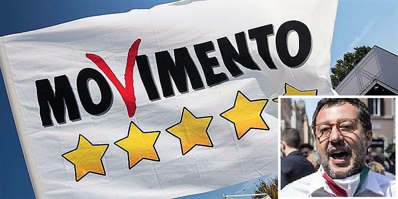 m5s bandiera CARCERE SANTA MARIA C.V., PARLAMENTARI M5S: SALVINI...UNO SCIACALLO