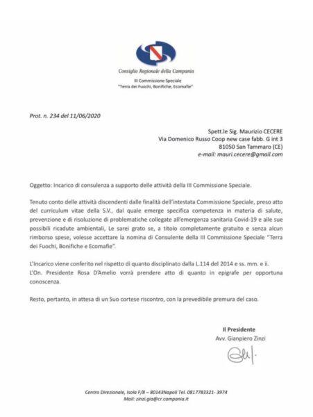 %name MAURIZIO CECERE ENTRA NELLO STAFF DI GIANPIERO ZINZI