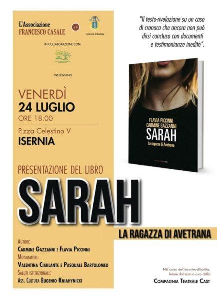 Locandina Sarah scaled L'ASSOCIAZIONE FRANCESCO CASALE PRESENTA 'SARAH, LA RAGAZZA DI AVETRANA'